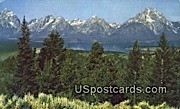 Teton Range, Signal Mountain - Jackson Hole, Wyoming WY Postcard