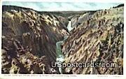 Canyon - Yellowstone Park, Wyoming WY Postcard