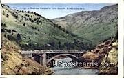 Bridge, Shoshone Canyon - Yellowstone Park, Wyoming WY Postcard