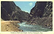 Tunnels, Wind River Canyon - Thermopolis, Wyoming WY Postcard