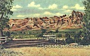 Red Castles - Duboise, Wyoming WY Postcard
