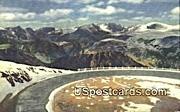 Beartooth Mountains - Yellowstone Park, Wyoming WY Postcard