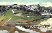 Switchbacks - Yellowstone Park, Wyoming WY Postcard