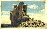 Teapot Rock, WY Postcard       ;      Teapot Rock, Wyoming