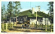 West Yellowstone Station, UP Terminal - Misc, Wyoming WY Postcard