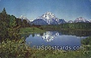 Teton Mountains - Jackson Hole, Wyoming WY Postcard