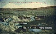 Devil's Soup Bowl - Thermopolis, Wyoming WY Postcard