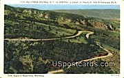 Switchbak Highway - Yellowstone Park, Wyoming WY Postcard