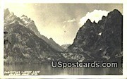 Real Photo - Jenny Lake - Jackson Hole, Wyoming WY Postcard