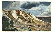 Jupiter Terrace - Yellowstone Park, Wyoming WY Postcard
