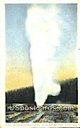 Beehive Geyser - Yellowstone Park, Wyoming WY Postcard
