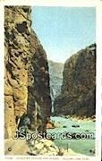 Shoshone Canyon & Tunnel - Yellowstone Park, Wyoming WY Postcard