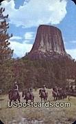 Devil's Tower - Black Hills, Wyoming WY Postcard