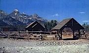 Chapel of the Transfiguration - Teton Mountains, Wyoming WY Postcard