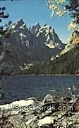 Tetons, Jenny Lake - Cascade Canyon, Wyoming WY Postcard