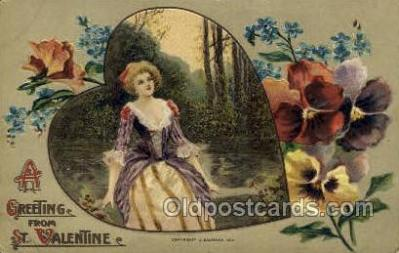 val050624 - Winsch Valentines Day, Old Vintage Antique Postcard Post Card