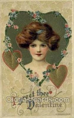 val050689 - Valentines Day, Old Vintage Antique Postcard Post Card