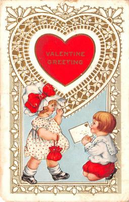 val200005 - Valentines Day Post Card Old Vintage Antique Postcard