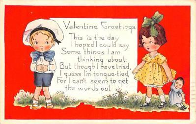 val200019 - Valentines Day Post Card Old Vintage Antique Postcard
