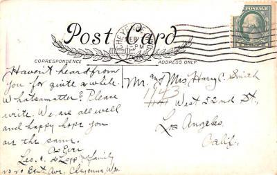 val200019 - Valentines Day Post Card Old Vintage Antique Postcard  back