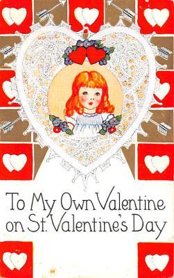val200021 - Valentines Day Post Card Old Vintage Antique Postcard