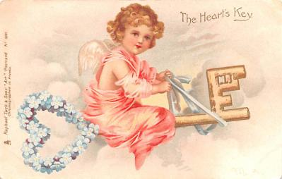 val200047 - Valentines Day Post Card Old Vintage Antique Postcard