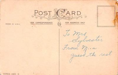 val200073 - Valentines Day Post Card Old Vintage Antique Postcard  back