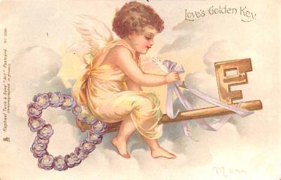 val200127 - Valentines Day Post Card Old Vintage Antique Postcard