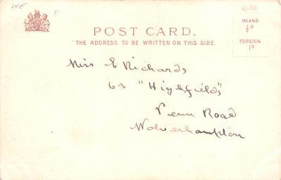 val200127 - Valentines Day Post Card Old Vintage Antique Postcard  back