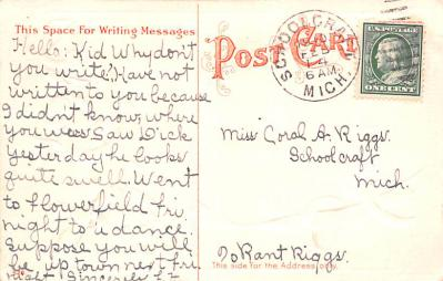 val200153 - Valentines Day Post Card Old Vintage Antique Postcard  back