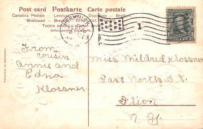 val200169 - Valentines Day Post Card Old Vintage Antique Postcard  back