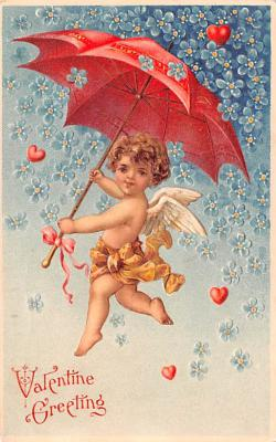 val200529 - Valentines Day Post Card Old Vintage Antique Postcard