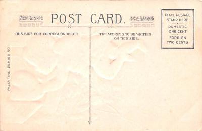 val200541 - Valentines Day Post Card Old Vintage Antique Postcard  back