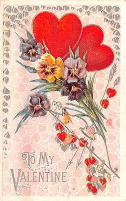 val200569 - Valentines Day Post Card Old Vintage Antique Postcard