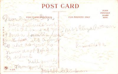 val200569 - Valentines Day Post Card Old Vintage Antique Postcard  back