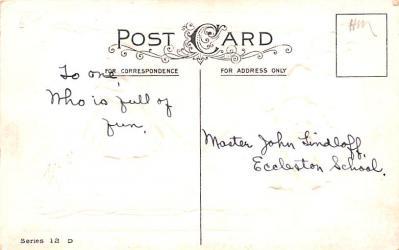 val200619 - Valentines Day Post Card Old Vintage Antique Postcard  back