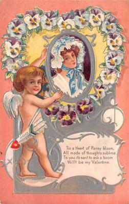 val200629 - Valentines Day Post Card Old Vintage Antique Postcard
