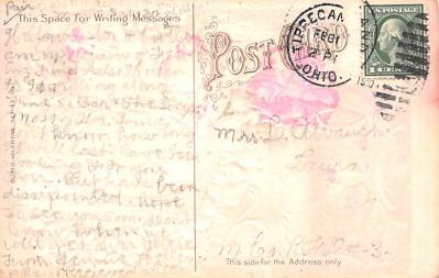val200629 - Valentines Day Post Card Old Vintage Antique Postcard  back