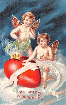 val200677 - Valentines Day Post Card Old Vintage Antique Postcard