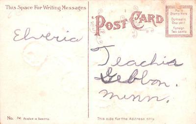 val200677 - Valentines Day Post Card Old Vintage Antique Postcard  back