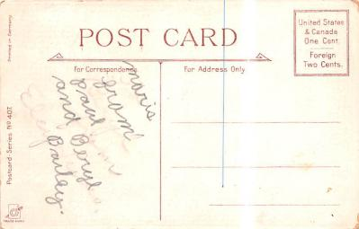 val200693 - Valentines Day Post Card Old Vintage Antique Postcard  back