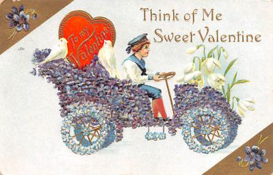 val200725 - Valentines Day Post Card Old Vintage Antique Postcard
