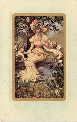 val200741 - Valentines Day Post Card Old Vintage Antique Postcard
