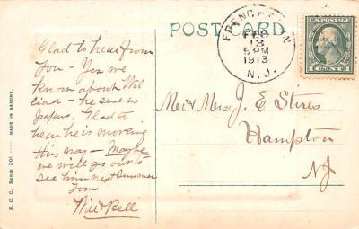 val200741 - Valentines Day Post Card Old Vintage Antique Postcard  back