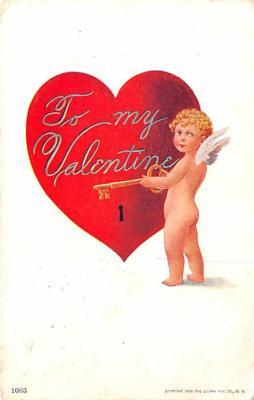 val200767 - Valentines Day Post Card Old Vintage Antique Postcard