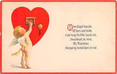 val200777 - Valentines Day Post Card Old Vintage Antique Postcard