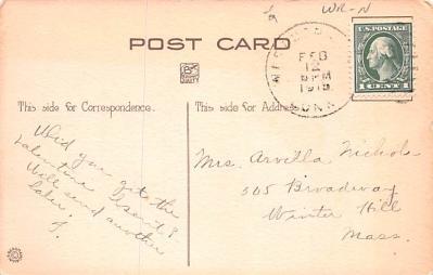 val200777 - Valentines Day Post Card Old Vintage Antique Postcard  back