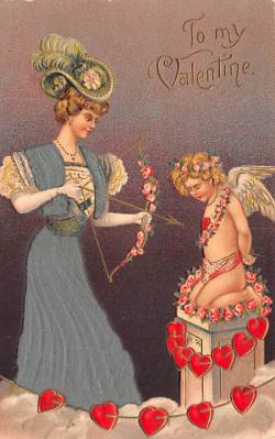 val200779 - Valentines Day Post Card Old Vintage Antique Postcard