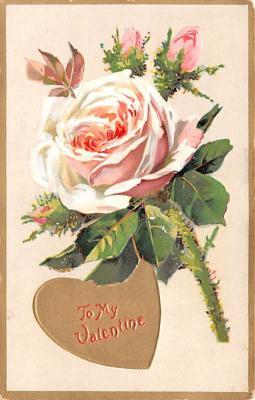 val200815 - Valentines Day Post Card Old Vintage Antique Postcard