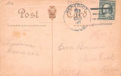 val200831 - Valentines Day Post Card Old Vintage Antique Postcard  back